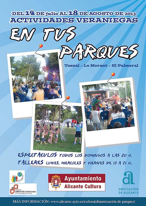 Actividades infantiles en Alicante. Verano 2013