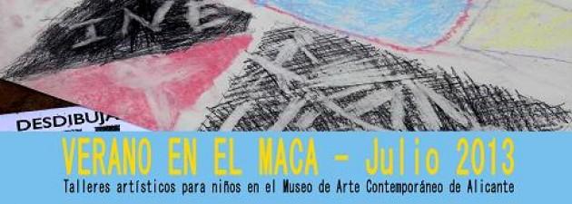 Talleres para niños en el museo MACA. Julio 2013