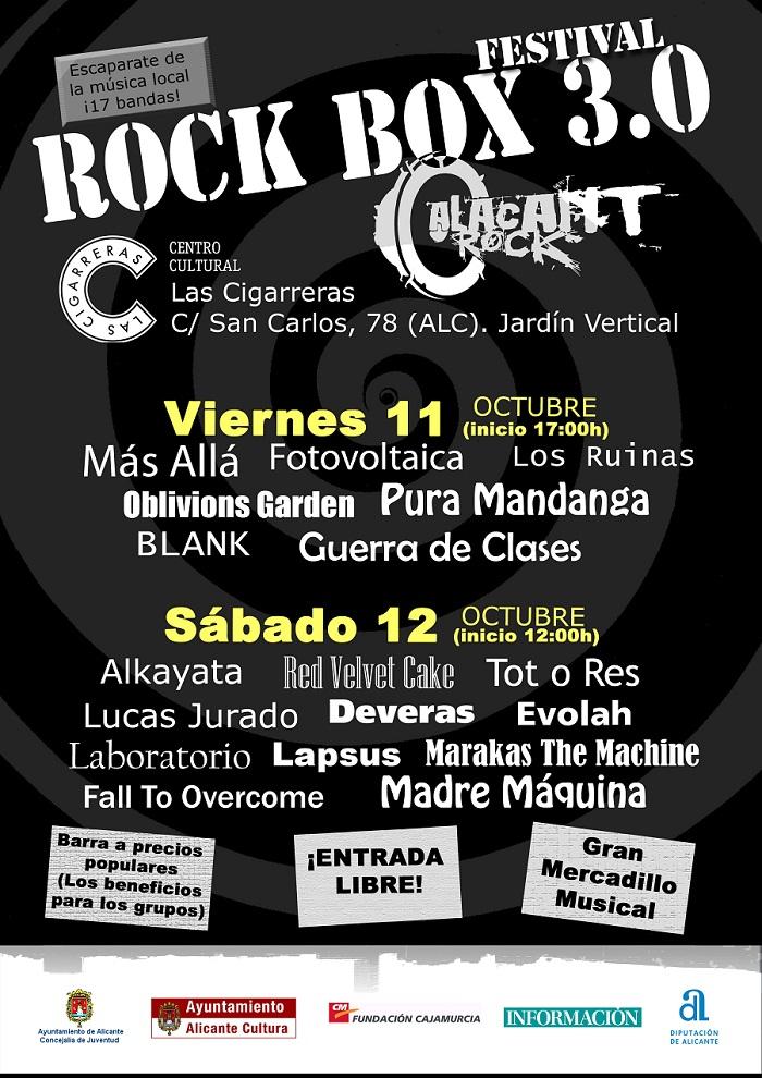 Festival Rock Box 3.0. Del 11 al 12 de Octubre del 2013