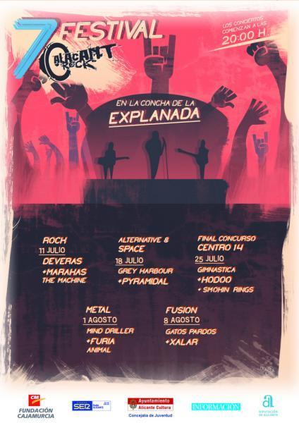 Siente el ritmo en la Concha de la Explanada del 11 de Julio al 8 de Agosto. VII Festival Alacant Rock 2014